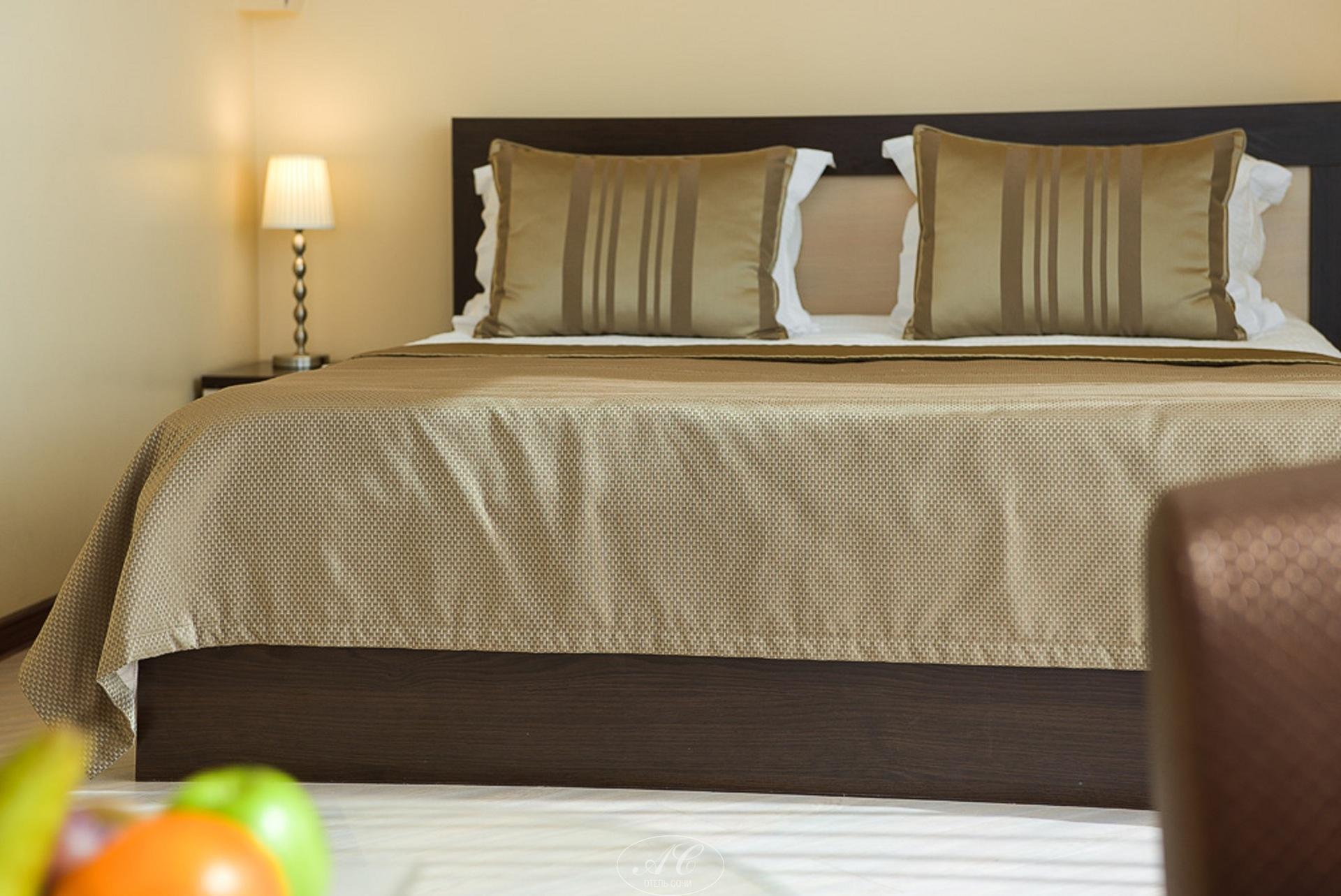 Номер Семейный с двуспальной кроватью и широким диваном